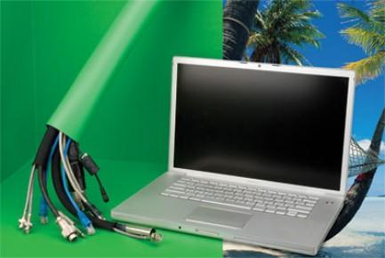 Фото2 SKN2.00BG Застегивающаяся 2-х цветная кабельная оплетка Studio Key для съемочных студий на замке-лип