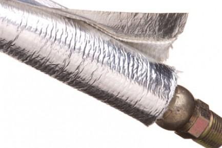 Фото2 T6F...SV Оборачиваемая термозащитная отражающая алюминиезированная оплётка (стекловолокно до 760 гр.