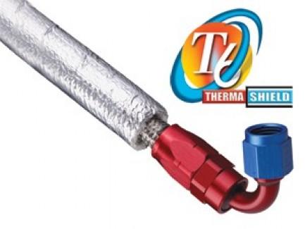 Фото1 T6F...SV Оборачиваемая термозащитная отражающая алюминиезированная оплётка (стекловолокно до 760 гр.