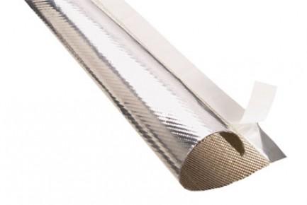 Фото2 TWN...SV Оборачиваемая Термозащитная Отражающая аллюминиезированная оплётка (стекловолокно до 650 гр