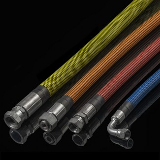 Фото6 PTT1.25 Круглая Кабельная Оплетка плотного плетения Tight Weave- 3.18 см, диапазон растяжки 25.4-42.