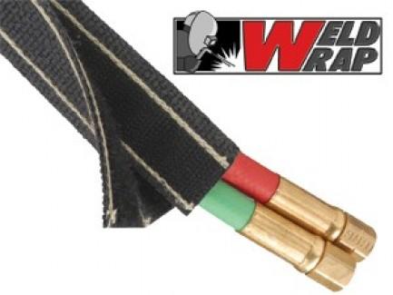 Фото1 WWN...BK Застегивающаяся огнестойкая (сварочная) высокопрочная кабельная оплетка Weld Wrap на замке-