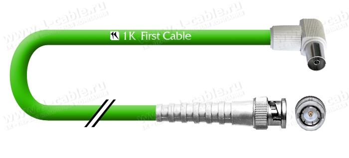1K-VT66-1.. - Кабель Антенный 75 Ом, BNC штекер IEC штекер - Первая Техническая Компания