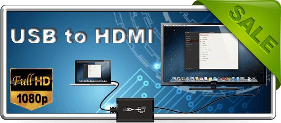 Фото Распродажа LKV325 - USB to HDMI
